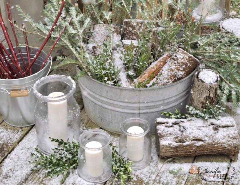 Winter Outdoor Decor Part - 49: Natural Outdoor Decorting With A Scandinavian Influence