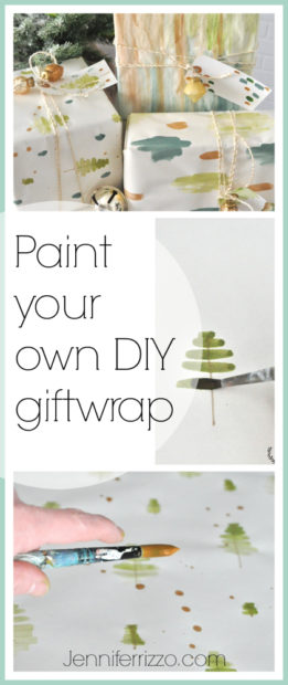 How to paint your own DIY giftwrap