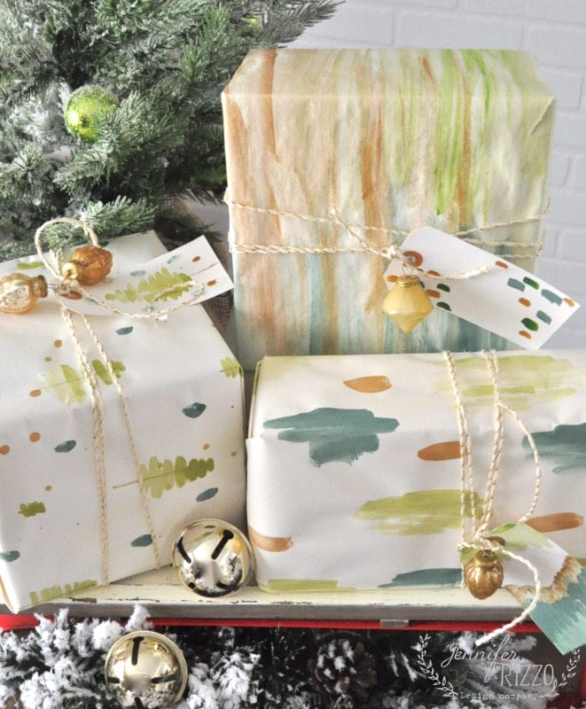 Painting your own gift wrap is fun and easy