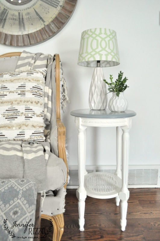 Painted furniture makeover with painted side table