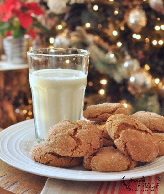 Soft and chewy gingersnap cookies! hard to stop eating them!
