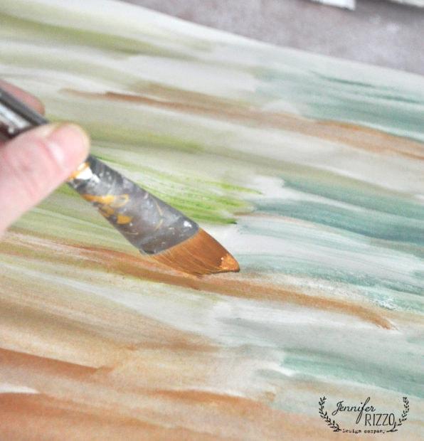 Use a brush to paint random liines