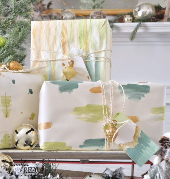 How to pain t your own DIY watercolor gift wrap