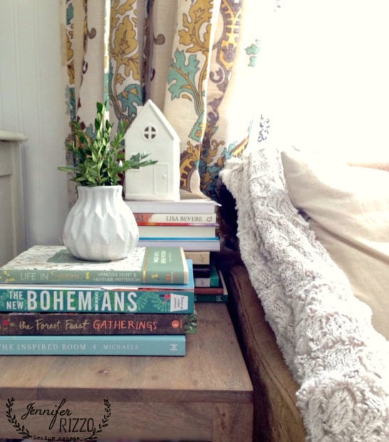 Use books in decorating and add hygge into your life