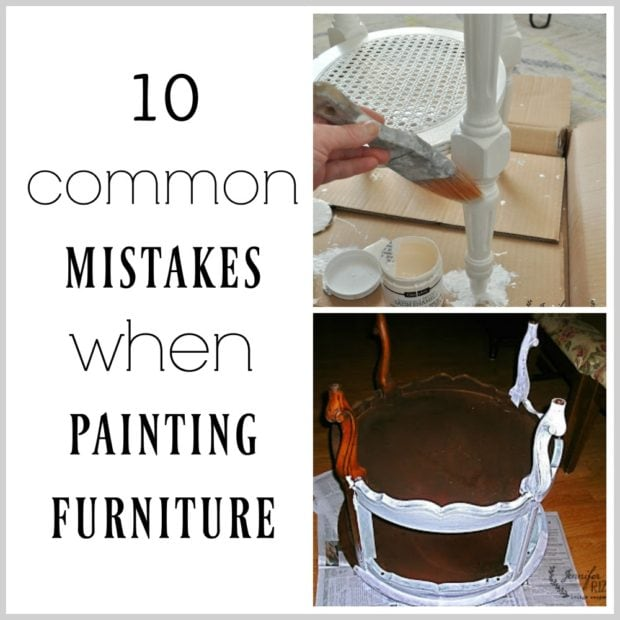 10 common mistakes when painting furniture
