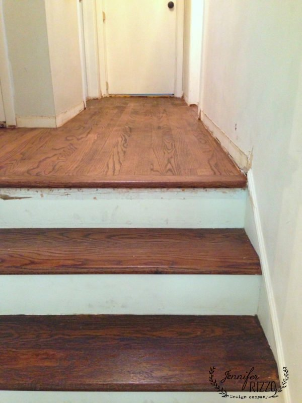 Custom refinished wood floors