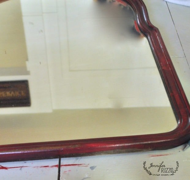 Paint the wood base with a red paint