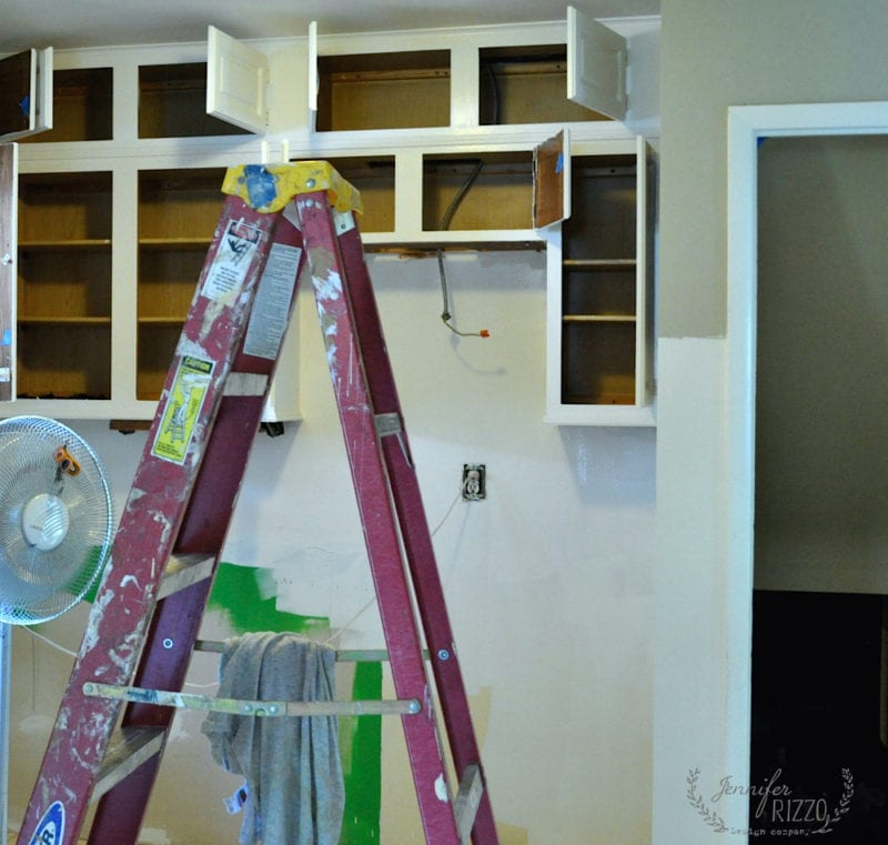 Mistakes made when painting kitchen cabinets white