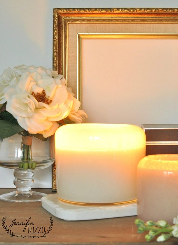 The warm glow of candlelight with Chesapeake Bay Candle