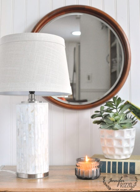 Make a round wood mirror DIY from a platter