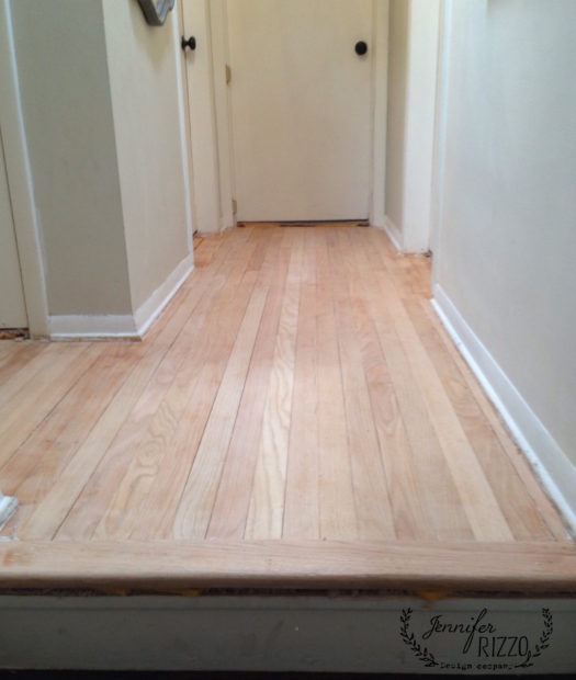 Bare sanded wood floors
