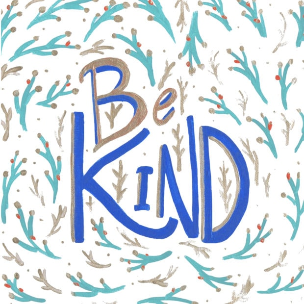 Be kind art print for personal use