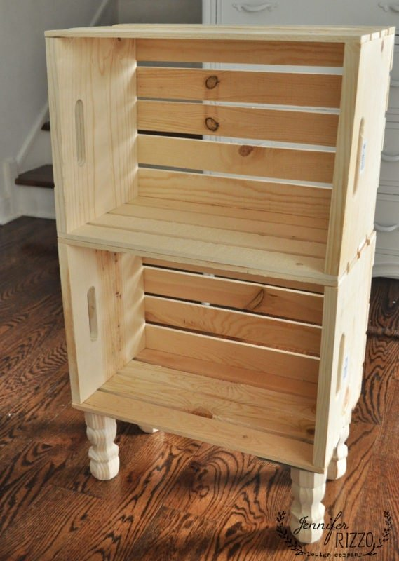 DIY Side Table From Crates