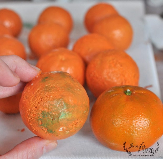 How to make faux oranges