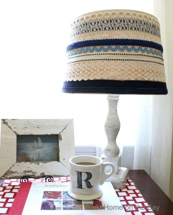 Hand made lampshade with trim