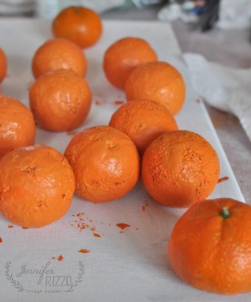 Paint a medium orange paint