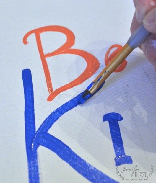 Painting word art as a base paint