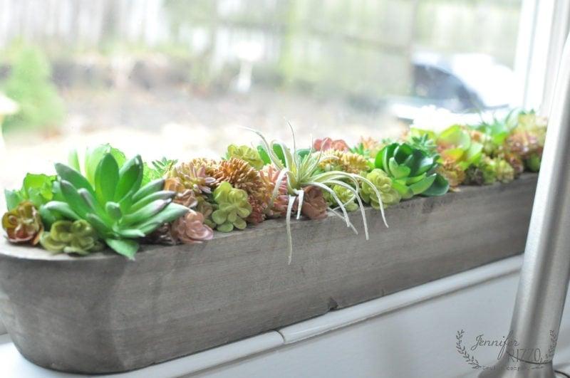 Faux sucuclent window planter
