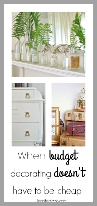 Budget decorating doesn't have to readas cheap.Easy ways you can add simple touches with a high end result.