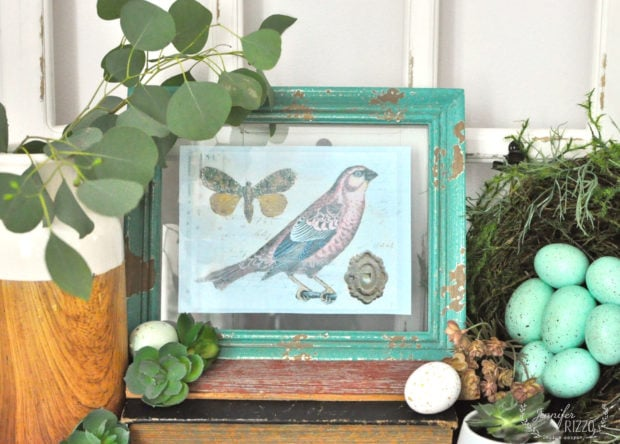 Free spring bird printable and Spring vignette