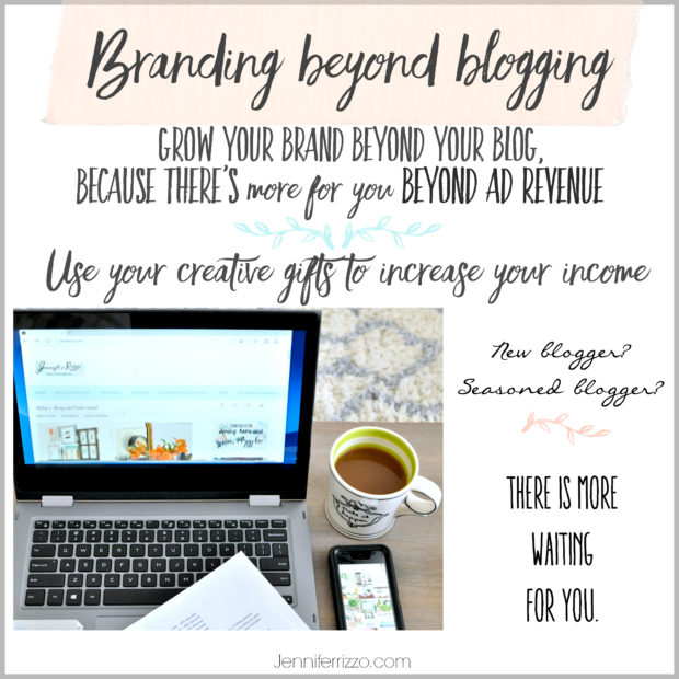 Branding beyond blogging. FInd out how to use your creative gifts to earn income off of your blog than just ad revenue.