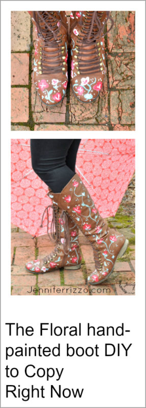 The floral hand-painted boot DIY to copy right now to upcycle your old, and thrift store boots!!!