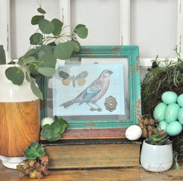 Free spring bird vignette with Free spring bird printable