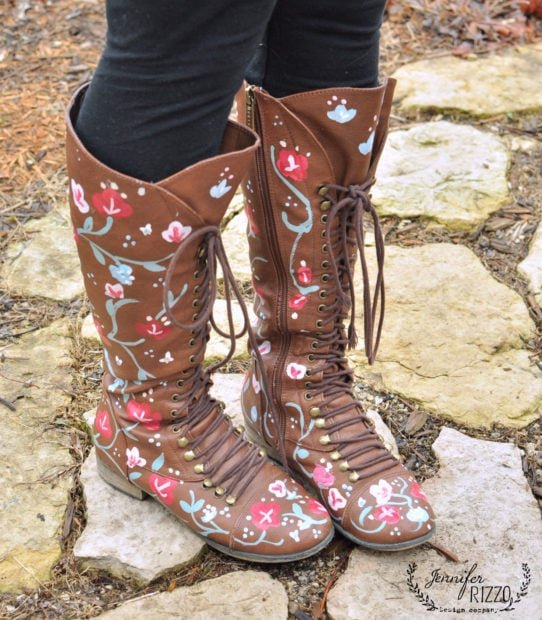 Make fun hand-painted, custom floral boots