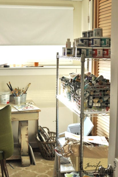 Small studio space in a closet
