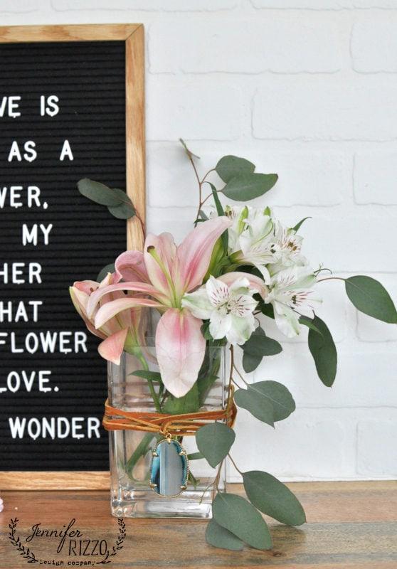 Make a boho embellished vase for Mother's Day