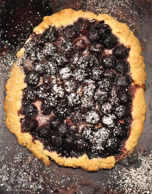 Love cherry pie? Try this amazing rustic Cherry tart recipe with a simple,flaky crust