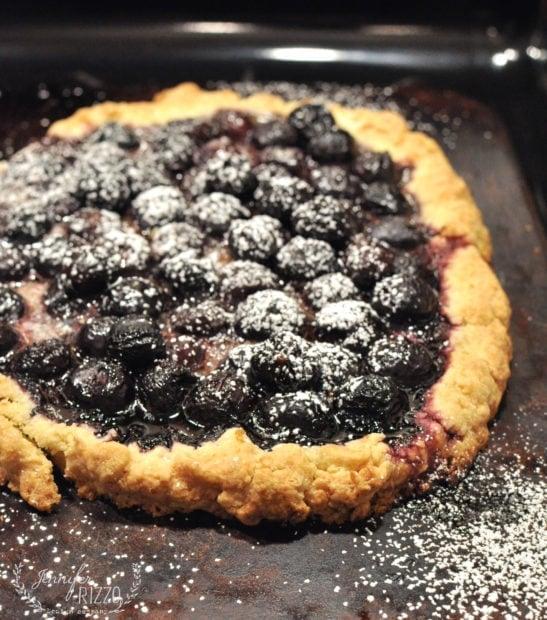 Love cherry pie? Make this rustic cherry tart