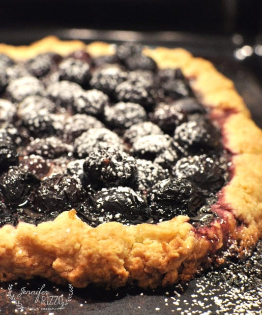 Yummy rustic cherry tart recipe with a simple and flaky crust