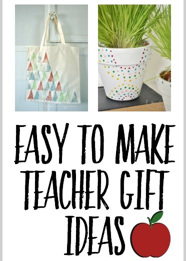 Easy to make crafty teacher gift ideas