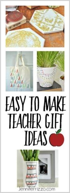 Easy to make teacher gift ideas