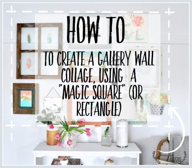How to create a collage gallery wall using a magic square or rectangle