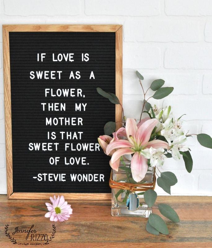 Mother's day boho embellished vase