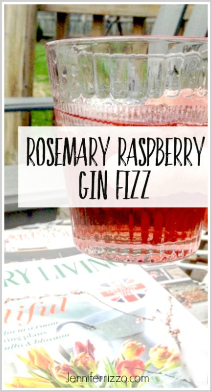 Rosemary raspberry gin fizz recipe for a great summer drink