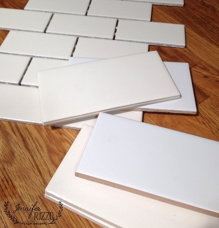 The difference between white subway tiles