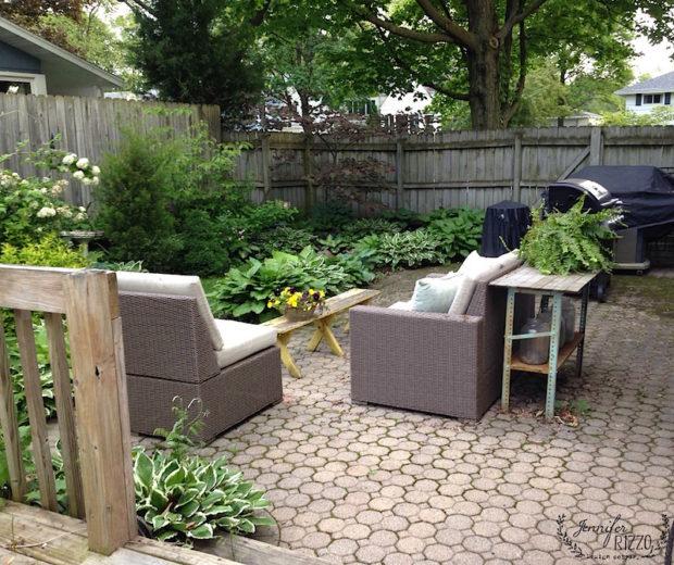 Backyard patio landscaped