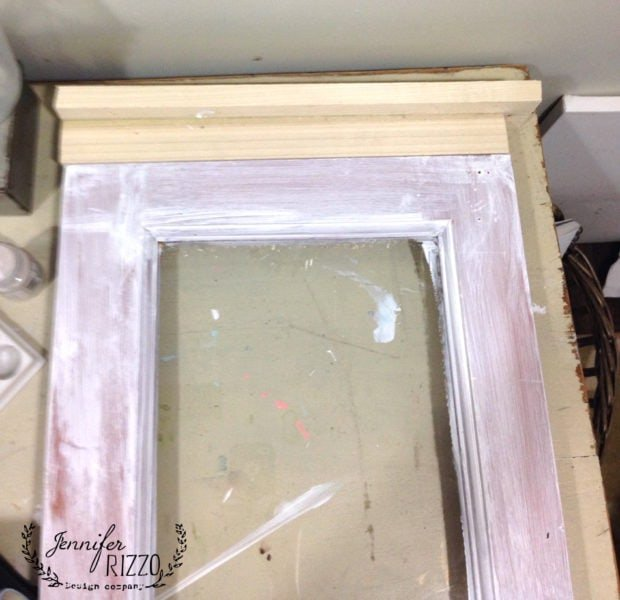 Build out edge of kitchen transom window