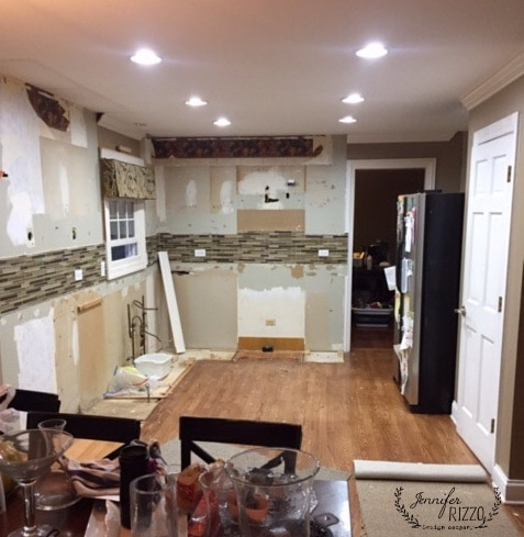 Client during full kitchen remodel