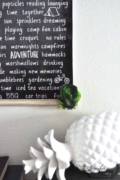 Make a free summer printable changing chart and glue succulents