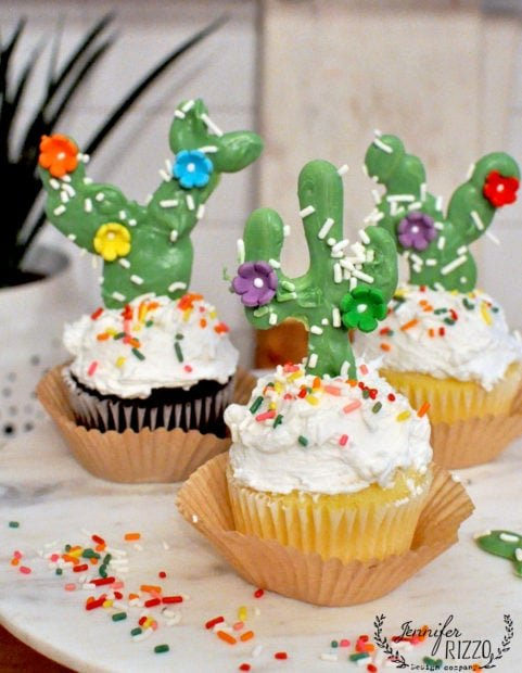 Fun cactus cake topper idea