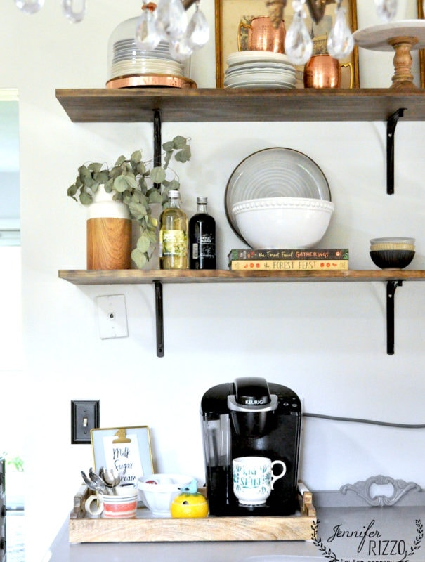 Open kitchen shelving idea