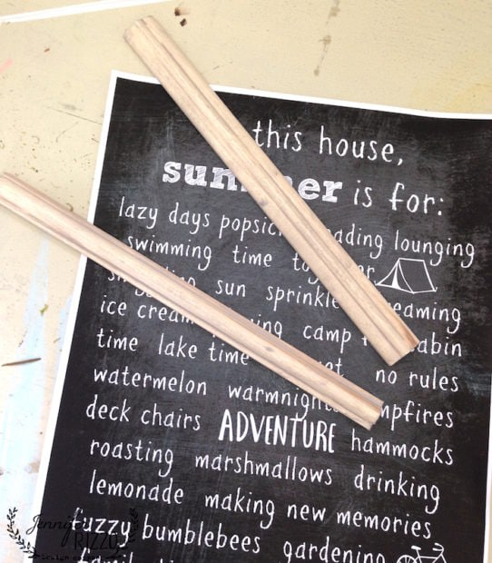 How to make a hanging chart with this free summmer printable
