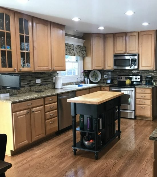 traditional kitchen before remodel