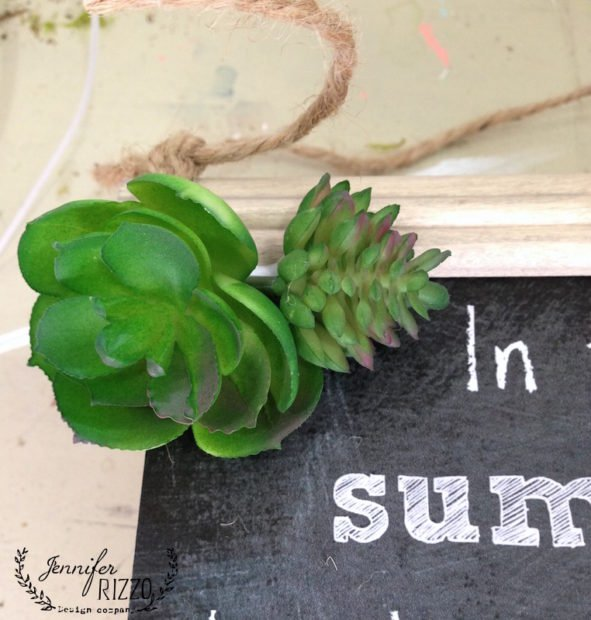 Succulents glued on a free summer printable