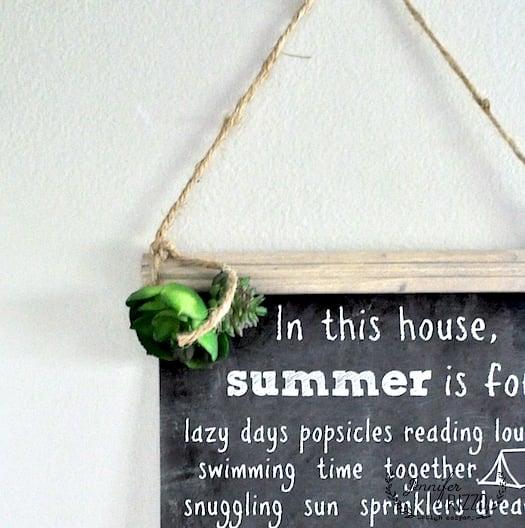 Make a hanging chart and free fun summer printable