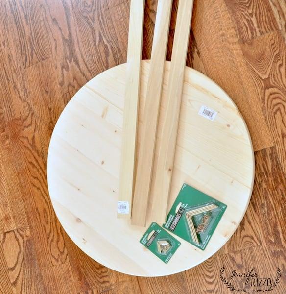 Supplies to make a small outdoor tile top table